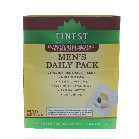 Finest Nutrition Men's Daily Pack Vitamins Minerals Herbs