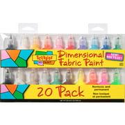 Scribbles 3D Fabric Paint - Assorted Colors - 1 oz Bottles - 20 pieces