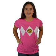 Power Rangers Pink Ranger Suit Women's Pink T-shirt NEW Sizes XS-2XL
