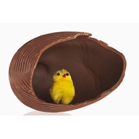 Toy Chick inside Hollow Chocolate Egg Print Wall Art By Martin