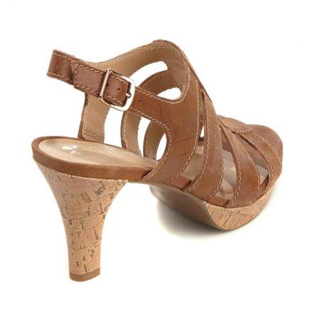 df64726d7257 Brand - Naturalizer Preya Leather Cage Platform Sandal 543-068 - Walmart.com