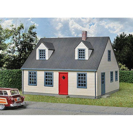 walthers cornerstone ho scale building/structure kit wood cape cod house](Wood Building Kits)
