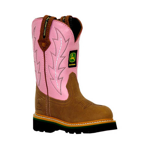 Infant Girls' John Deere Boots Leather Wellington 1185 by John Deere
