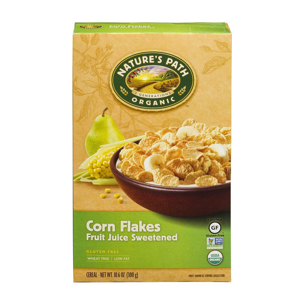 Nature's Path Organic Corn Flakes Fruit Juice Sweetened Cereal, 10.6 OZ