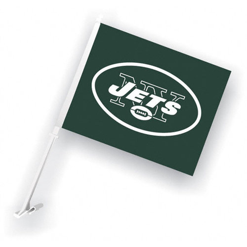 NFL - New York Jets 11x14 Double Sided Car Flag - Set of 2