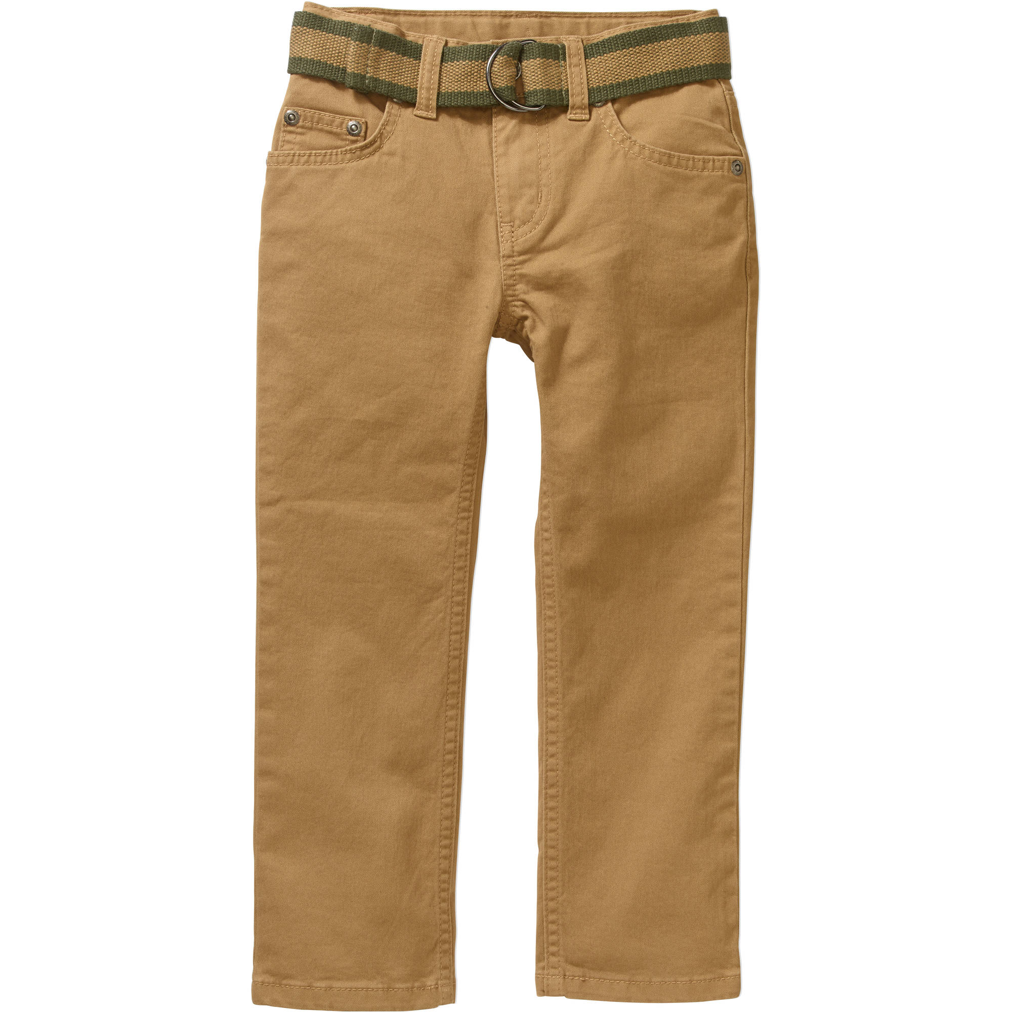 Faded Glory Boys' Belted Twill Chino Pants