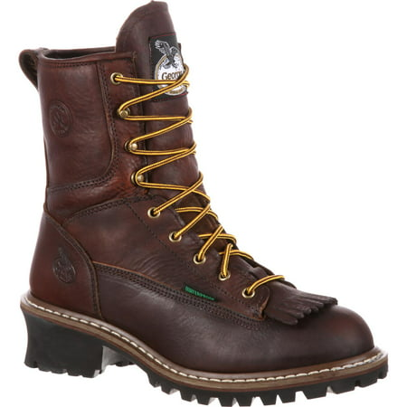 Georgia Men's Waterproof Logger Boot Round Toe - G7113 - Diy Galaxy Boots