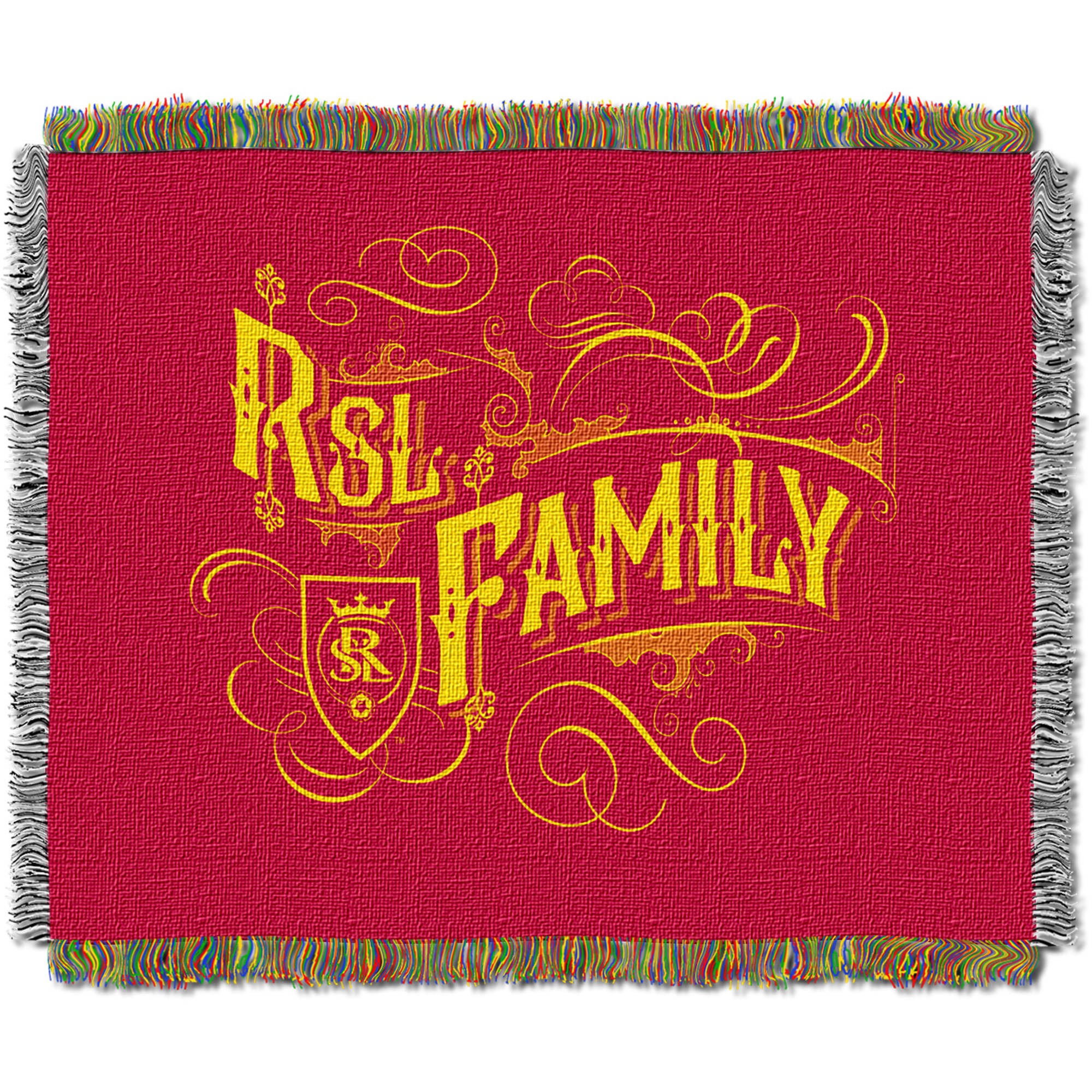 "MLS Real Salt Lake Handmade 48"" x 60"" Woven Tapestry Throw"
