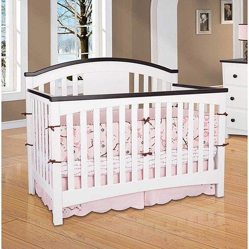 Delta Children Newport 4 In 1 Convertible Crib Espresso White