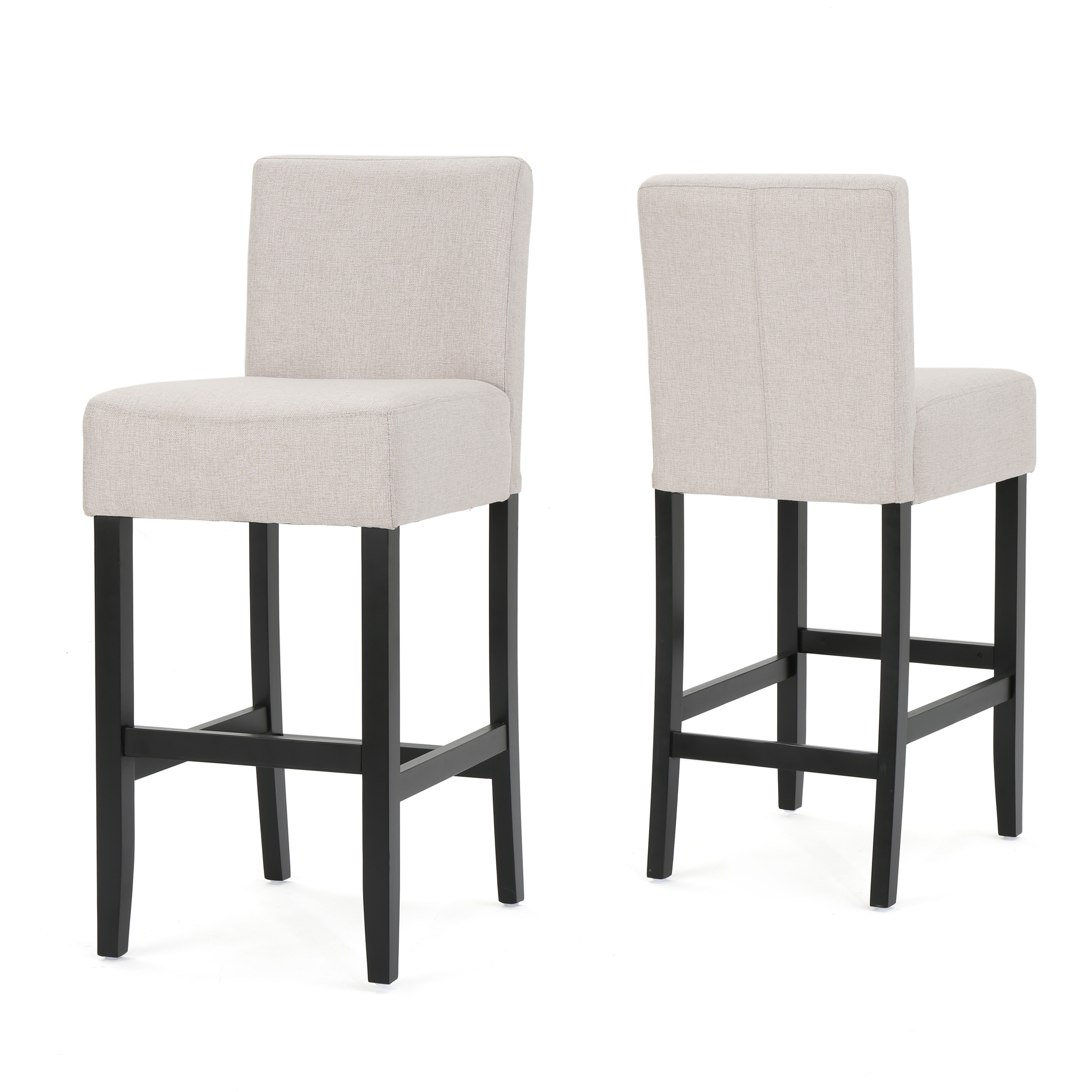 Prim Fabric Barstools, Set of 2, Wheat