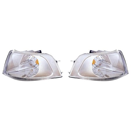 CarLights360: For 2001 2002 2003 2004 VOLVO S40 Signal Corner Light Pair Driver and Passenger Side (Chrome) W/ Bulbs (DOT Certified) Replaces VO2520109 VO2521109 Volvo S40 Car Driver