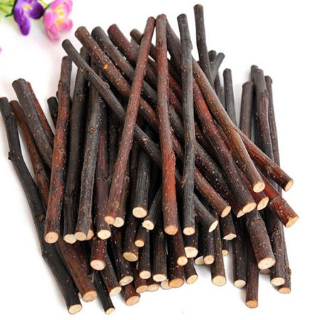 Hamster Honey Sticks - Obstce Natural Wood Chew Sticks Twigs for Small Pets Rabbit Hamster Guinea Pig Toy