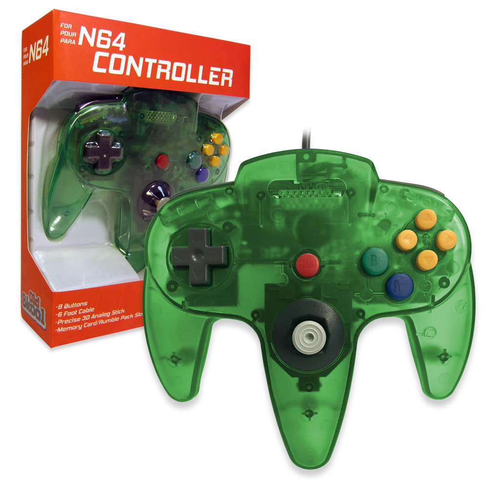 Old Skool Controller for Nintendo 64, Jungle Green, 00645871906701