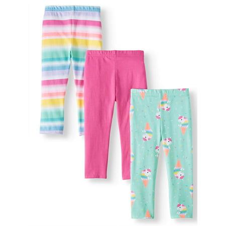 ddd81f3c25585 Garanimals - Solid & Printed Capri Leggings, 3pc Multi-Pack (Toddler Girls)  - Walmart.com