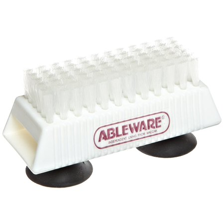 Ableware 753490211 Nail Brush with Suction Cup Base, Nail Brush with Suction Cup Base By Maddak Inc Ship from US