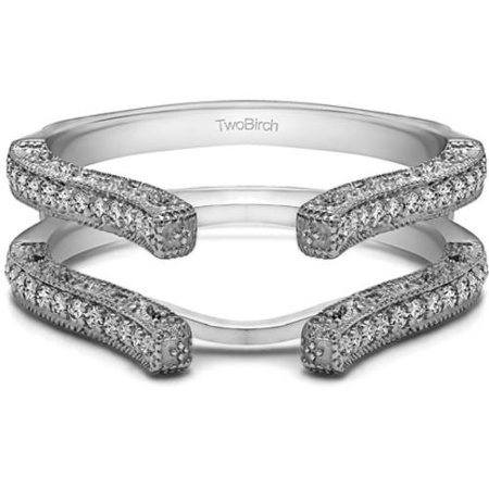 Personalized Cathedral Filigree Wedding Ring Guard](Personalized Wedding Rings)