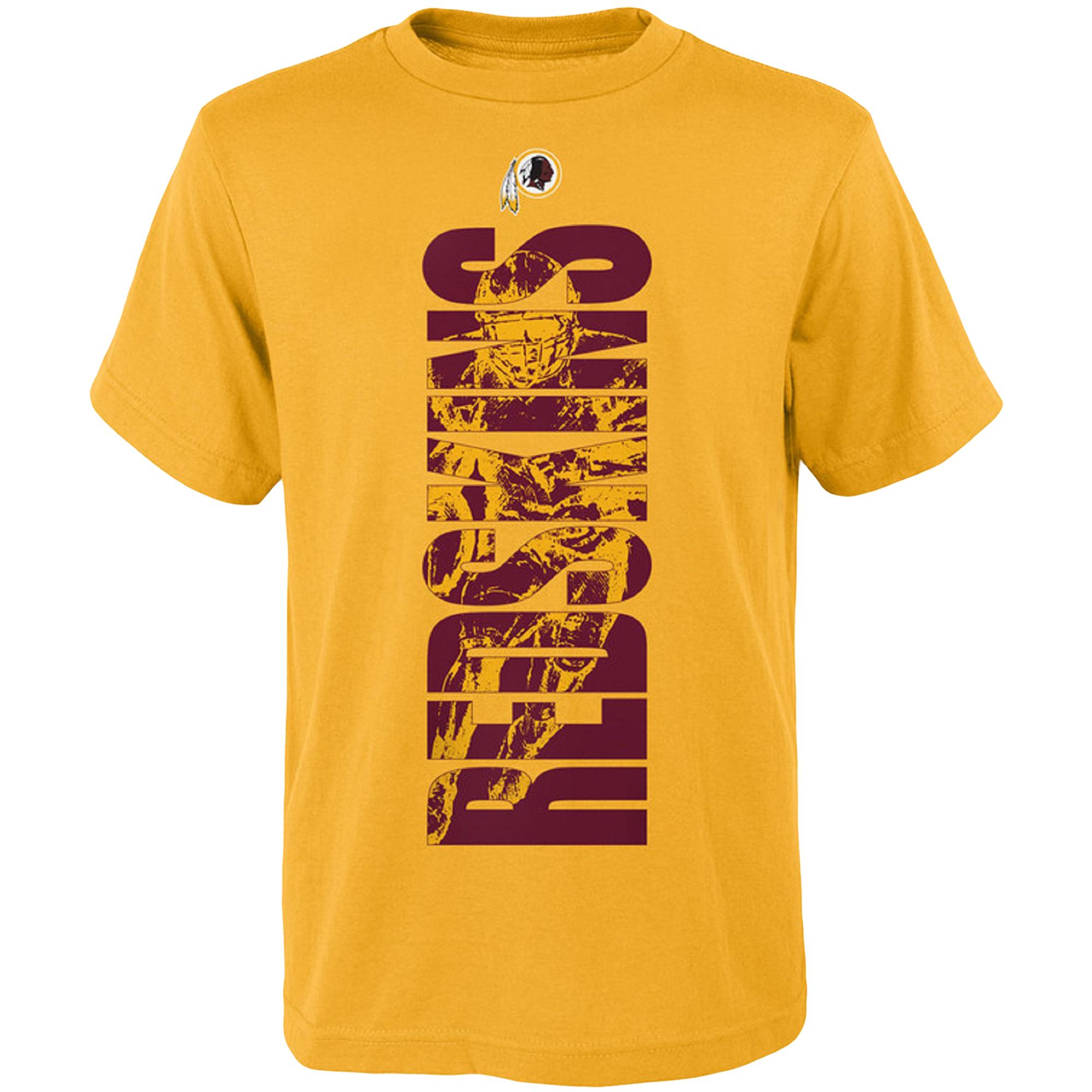 Youth Gold Washington Redskins Side T-Shirt