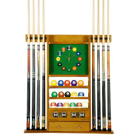 Cue Rack Only 8 Pool Billiard Stick Amp Ball Set Wall