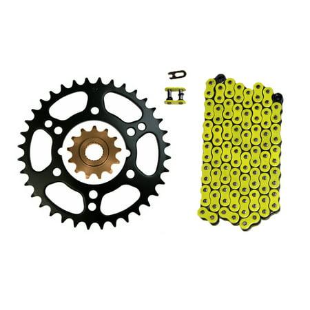 Yellow 520x76 O-Ring Drive Chain & 13/36 Sprockets Polaris Scrambler 500 4x4