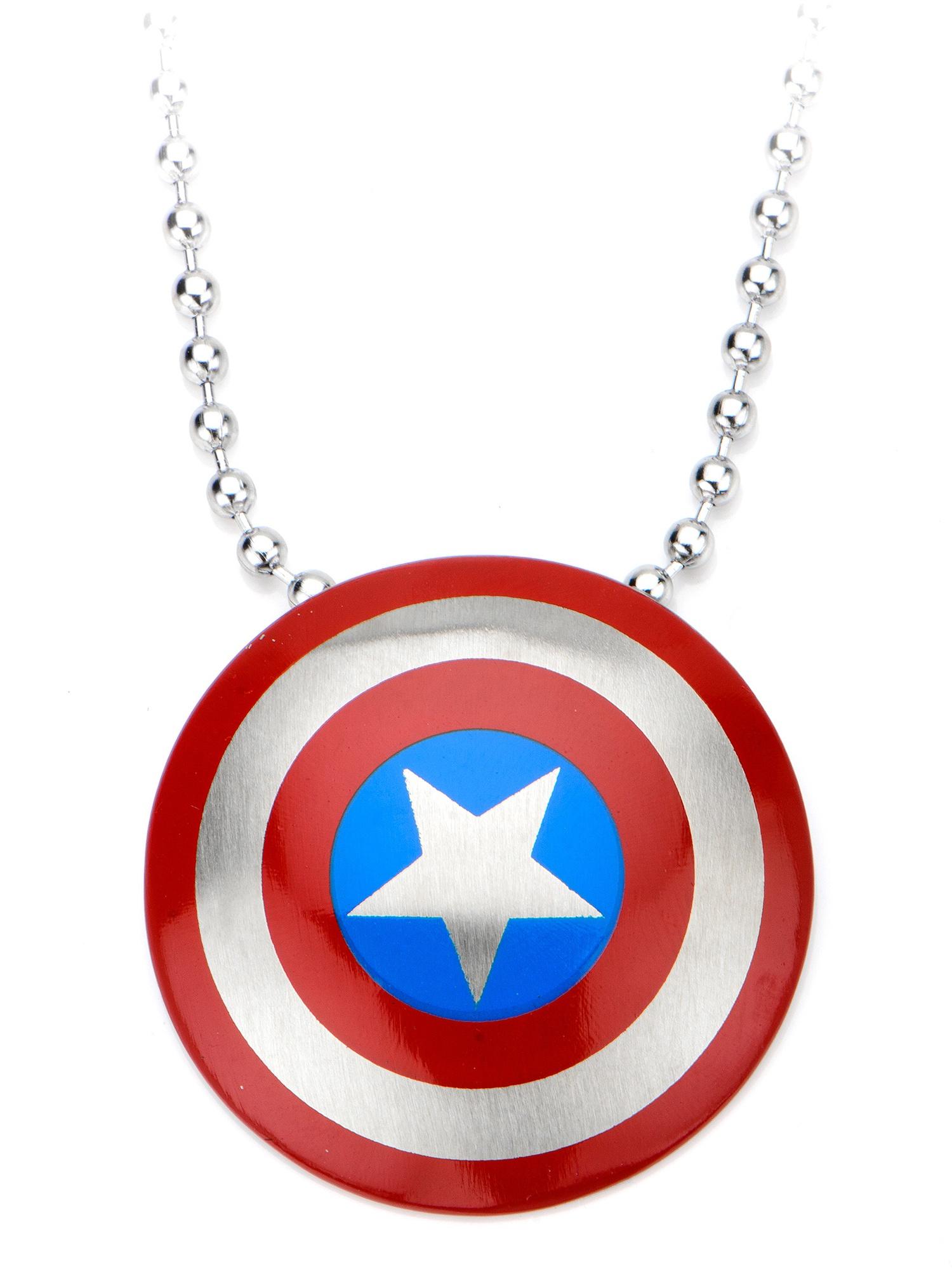 Marvel Captain America Steel Pendant with Chain