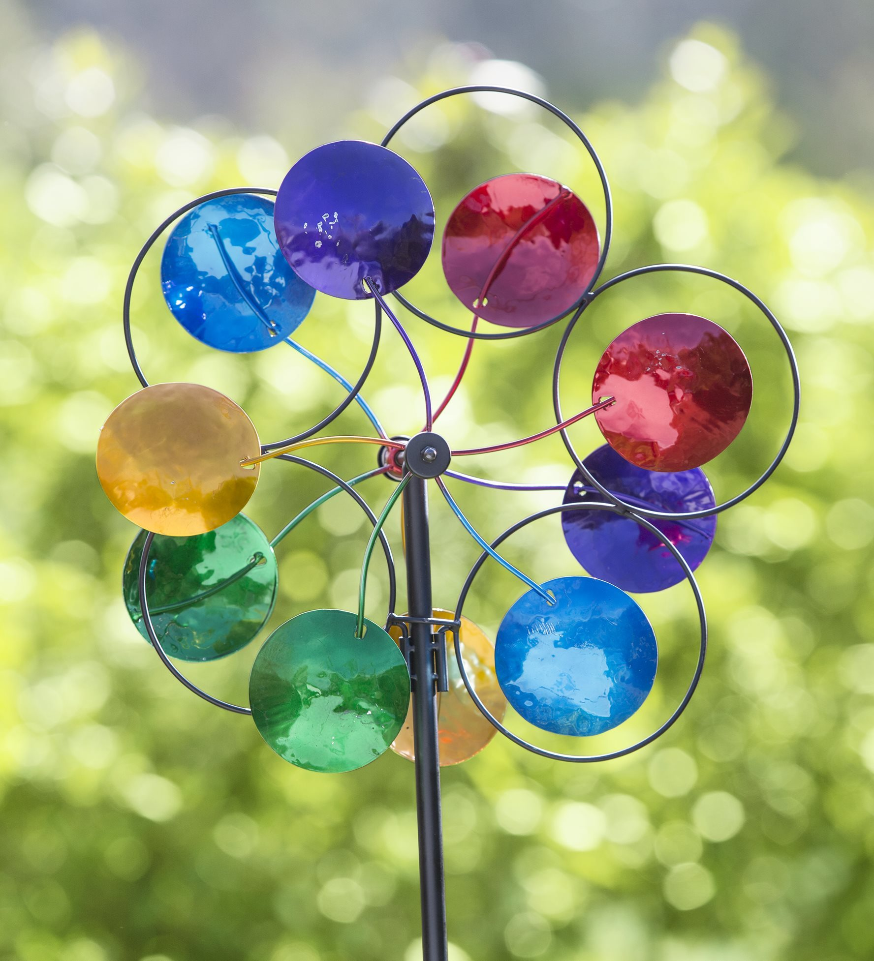 Midi Colorful Circles Garden Wind Spinner by Plow & Hearth