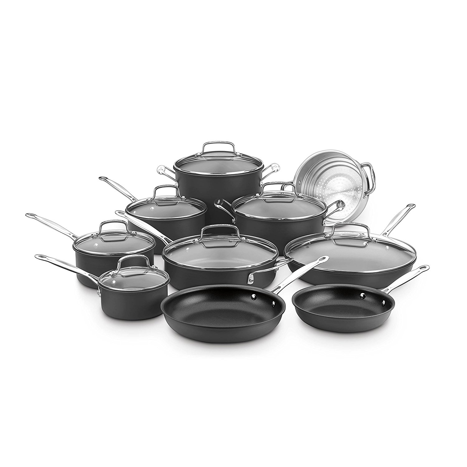 Cuisinart Chef's Classic Hard Anodized Non-Stick 17 Piece Cookware Set, 66-17