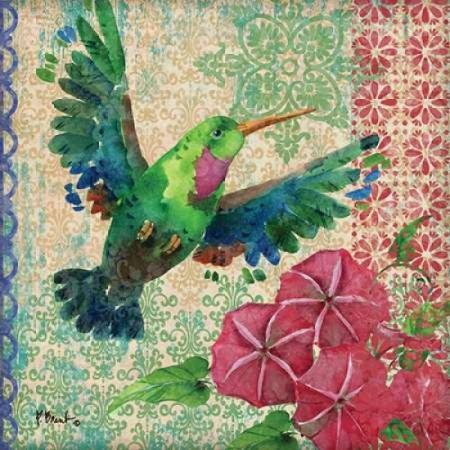 Zealous Hummingbird I Poster Print By Paul Brent