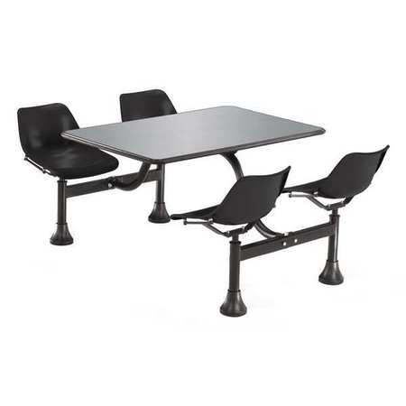 OFM INC 1005-BLK Outdoor Table,71 in. D,Black G3343098