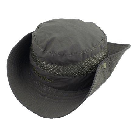 e1dc7a7e2fb48 Fisherman Travel Fishing Bucket Picnic Adjustable Mesh Wide Brim Cap Hat  Khaki - image 1 of ...