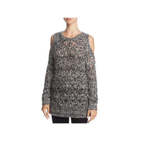 BB Dakota Womens Bernette Wool Blend Cold Shoulder Pullover Sweater