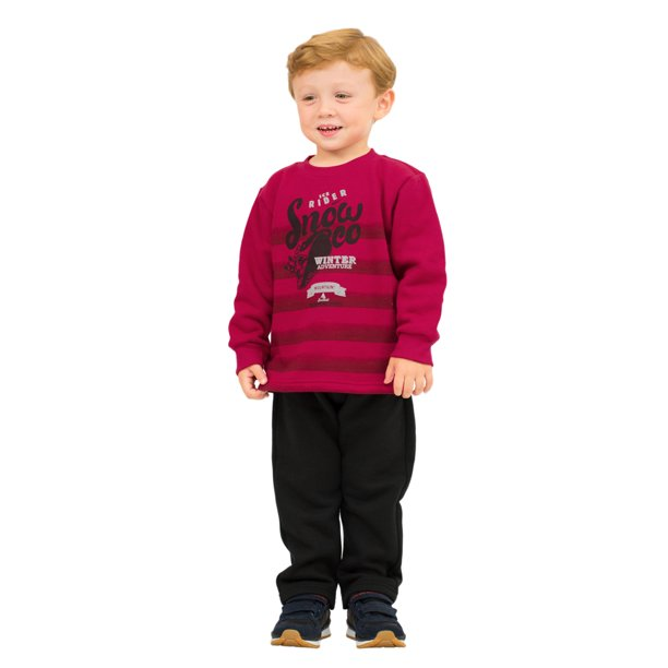 Pulla Bulla Toddler Boy Outfit Sweatshirt and Sweatpants Set