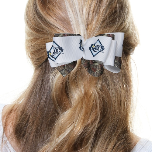 Tampa Bay Rays Women's Mary Loop with Mossy Oak Hair Bow - No Size