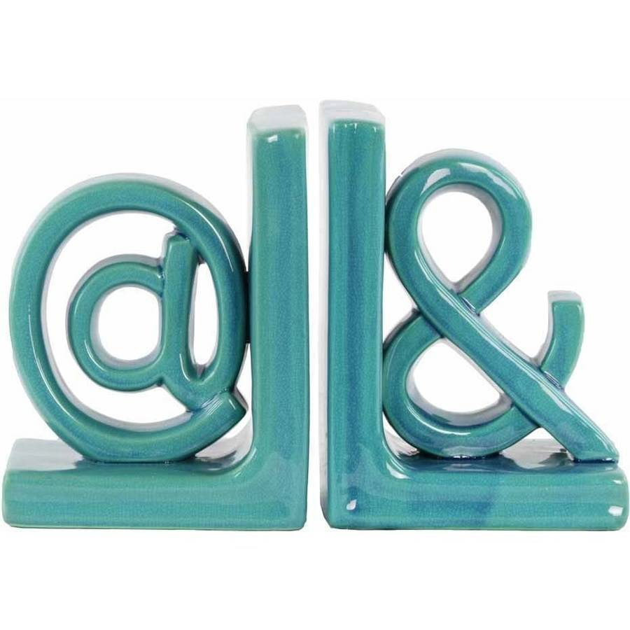 Urban Trends Collection: Ceramic Alphabet Bookend, Gloss Finish