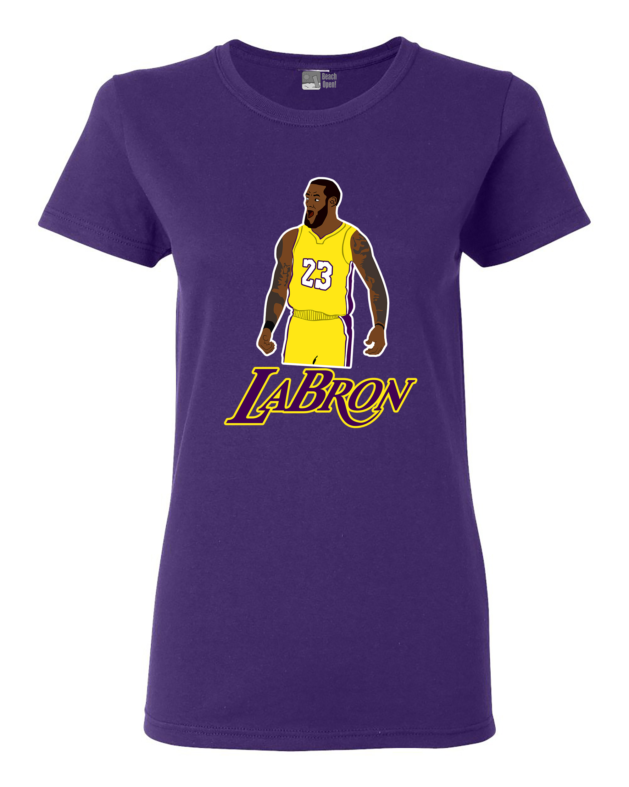 Ladies Labron The Look Lebron 23 King Los Angeles Basketball Fan DT T-Shirt Tee