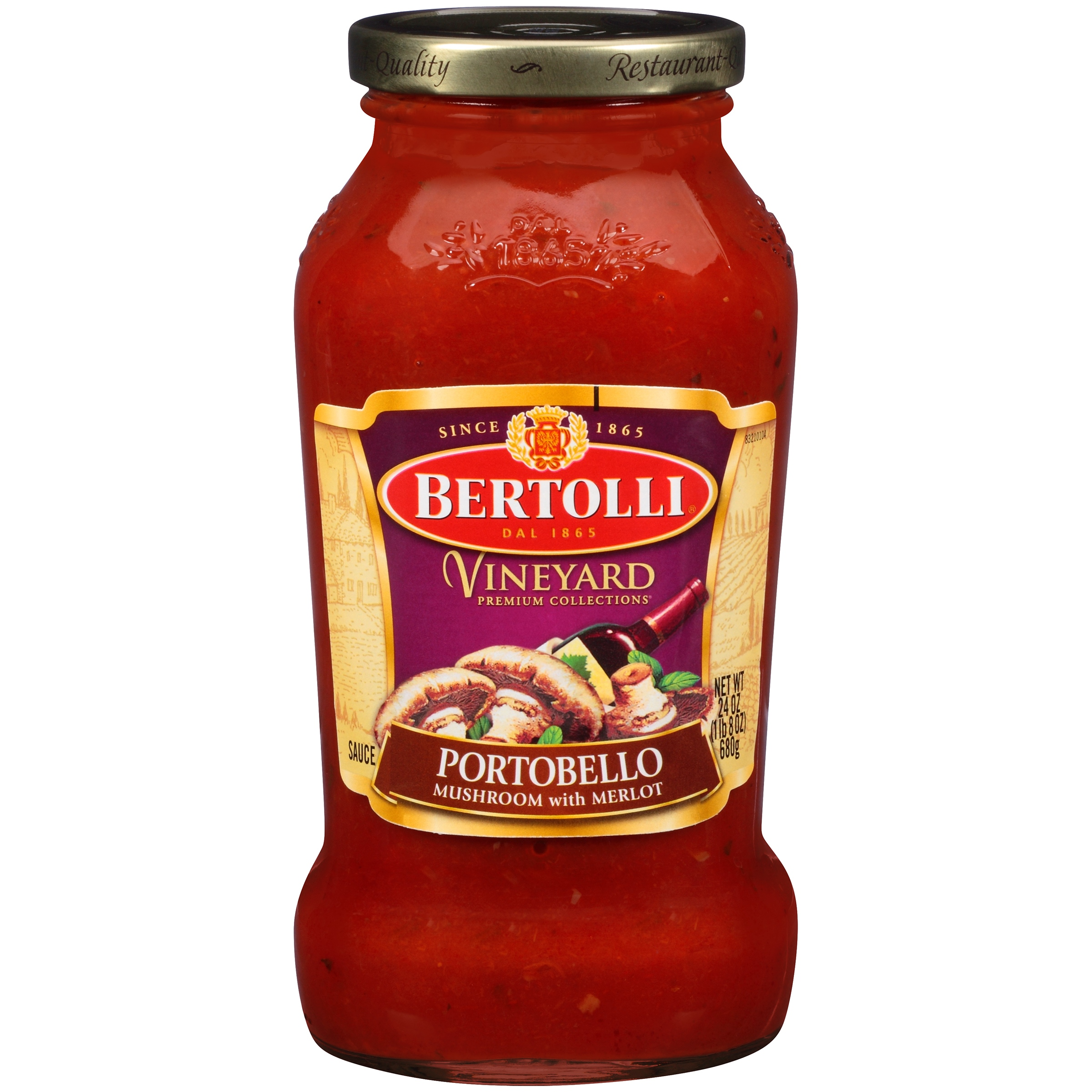 Bertolli Vineyard Portobello Mushroom with Merlot Pasta Sauce 24 oz.