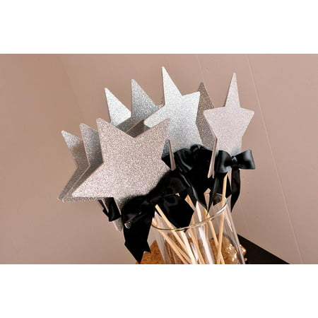 Graduation Centerpiece. Ships in 1-3 Business Days. Graduation 2019 Party Ideas. Star Wands 5CT. (Rock Star Centerpieces)