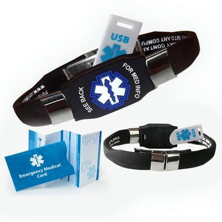 Medical Medical Id Bracelet - ELITE USB 2GB Medical Alert ID Bracelet! Waterproof! Choose Color!