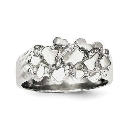 925 Sterling Silver Woman's Nugget Ring - image 2 de 2