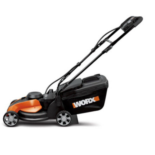 "WORX 14"" Cordless Electric-Powered Push Lawn Mower with IntelliCut by Generic"