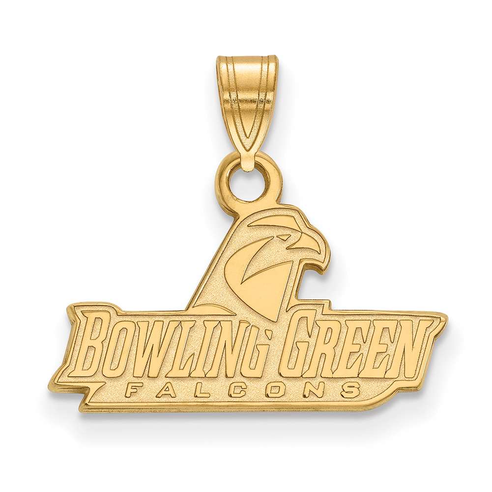 Lex & Lu LogoArt 10k Yellow Gold Bowling Green State University Small Pendant LAL131226
