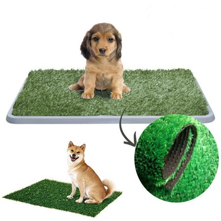 Indoor Pet Toilet Dog Cat Artificial Grass Potty Training Litter Turf Patch Pad,L(53 X 39cm)