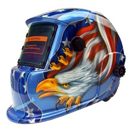 AUDEW Welding Helmet Solar Powered Auto Darkening Hood with Adjustable Wide Shade Range 4/9-13 for TIG MIG ARC Plasma Grinding Welder Mask