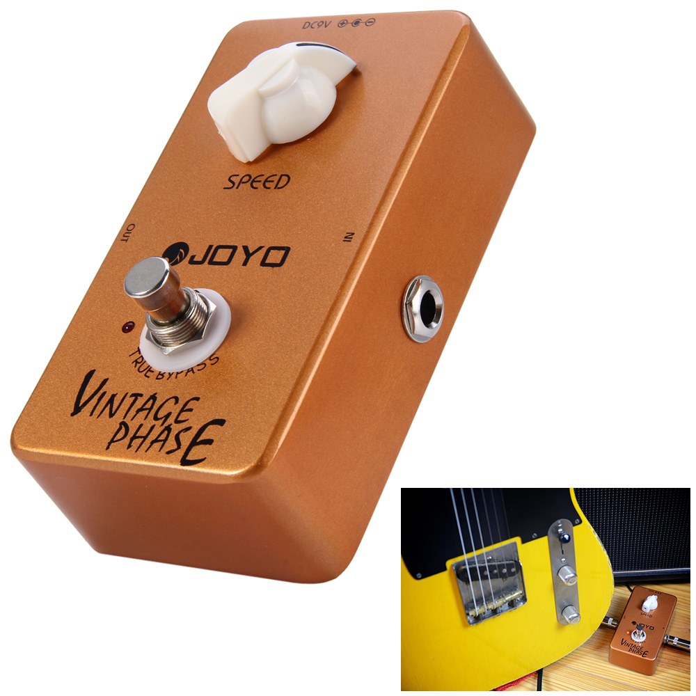 JOYO JF - 06 True Bypass Design Vintage Phase Electric Guitar Effect Pedal with Aluminum Alloy Material