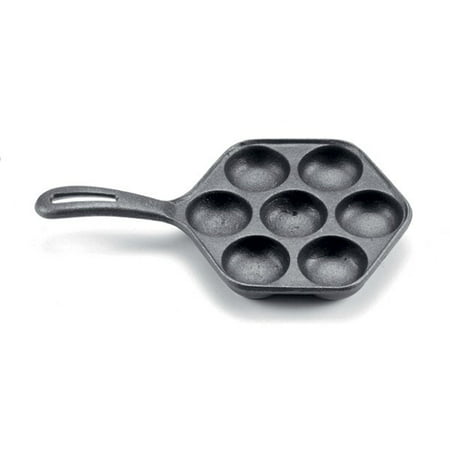 Norpro Cast Iron Danish Aebleskiver Pan Makes 7 Filled Pastries 6.5 Inches New