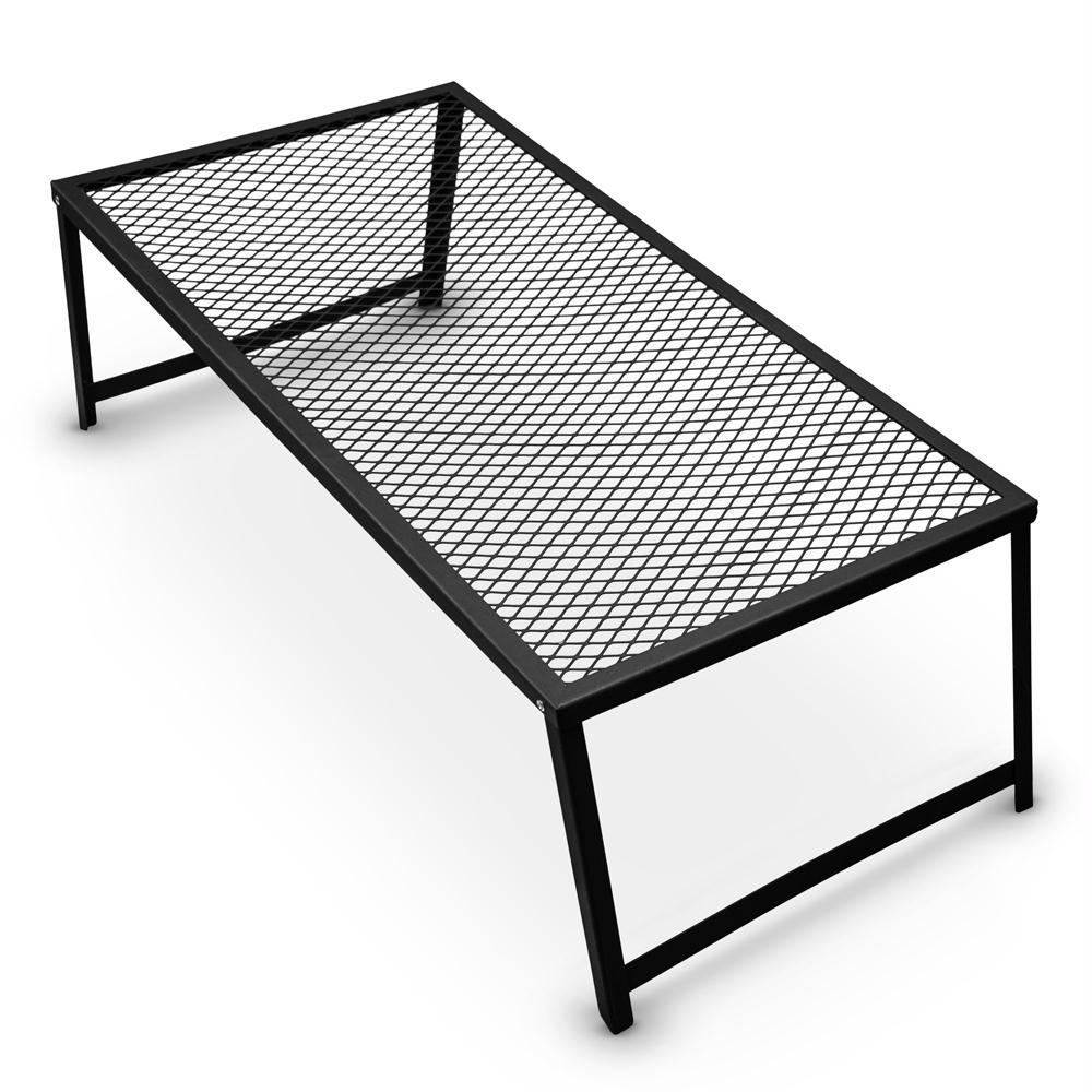 Grizzly Peak Heavy Duty Steel Mesh Over Fire Camping Grill Grate, Family Size, 4-6 People