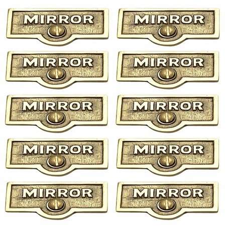 10 Switch Plate Tags MIRROR Name Signs Labels Lacquered Brass | Renovators Supply