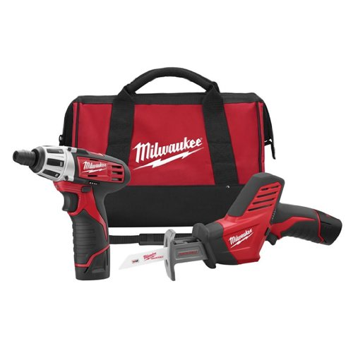Buy Milwaukee 2490-22 12-Volt Compact Drill and Hackzall Saw Combo Kit