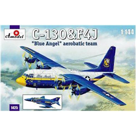 1/144 C130 Hercules & F4J Blue Angel Aerobatic Team Aircraft (2 Kits)