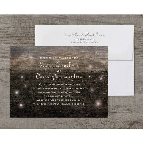 Firefly Fields Deluxe Wedding Invitation