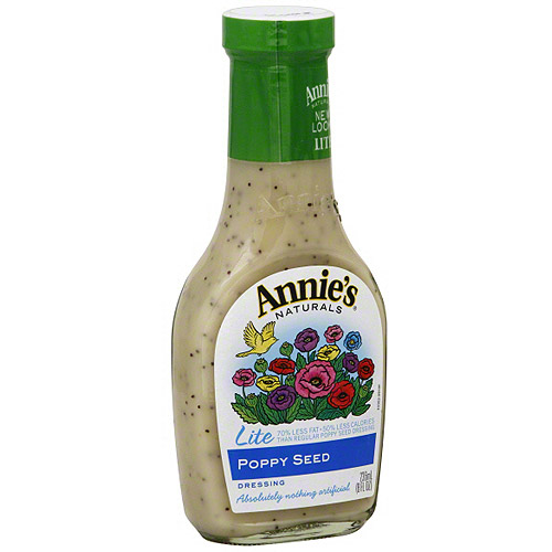Annie's Naturals Lite Poppy Seed Dressing, 8 oz (Pack of 6)